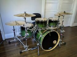 Sleishman Omega Rock Drum W/ Hard Cases And Extras Dw Pro Masters Collectors Kit