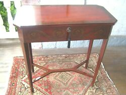 Vintage Bombay Console Hallway Table Embellished With Drawer And Key 064
