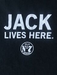 Jack Daniel's Graphic Shirt 2xl Jack Lives Here Whiskey Black Tee Old No 7