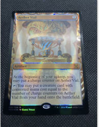 Misprint Aether Vial Inventions Masterpiece Holo Foil Stamp Back Of Card - Mtg