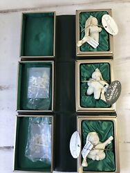 3 Snowbabies Ornaments Original Book Boxes My Gift To You, Let It Snow, Serenade
