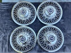 1960and039s 1970and039s After Market Chevrolet Corvette Wire Wheel Hubcaps