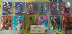 Fortnite Trading Card Lots 50card Lots Series 1 And Series 2 Holo Legendary Epic