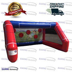 10x13ft Inflatable Football Shooting Soccer Toss Kids Goal Game With Air Blower