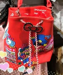 Hello Kitty Red Bucket Tote Bag $125.00