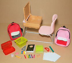 18quot; Doll Desk Student Backpacks School Extras American Girl Our Generation $23.50