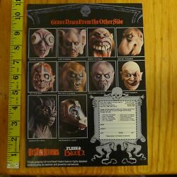 Distortions Flesh And Blood Clipping Print Ad Horror Mask Eye Gore Licker Snot Rot