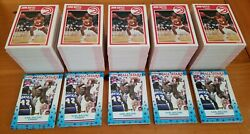 1989-90 Fleer Basketball Complete 168-card Set With 11-stickers 5-set Lot