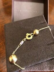 Original Roberto Coin 18k Gold Beaded Bracelet From The Pallini Collection