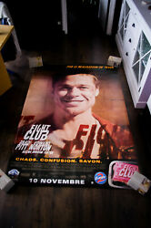 Fight Club Style C 4x6 Ft Bus Shelter Vintage Movie Poster Original 1999