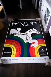 Longines Eiffel Horse Jumping 4x6 Ft Bus Shelter Advertise Poster Original 2018
