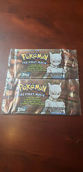Lot Of 2 Pokemon The First Movie Black Label Unopened Topps Trading Cards Packs