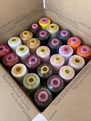 Lot Of 25 Spools Serger Sewing Machine Thread T27 S2 Open And Unsealed Samples