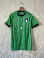 Italy 2017 2018 Goalkeeper Football Shirt Soccer Jersey Player Issue 1 Buf