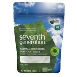 Seventh Generation Natural Dishwasher Detergent Pacs, Free And Clear 12x20 Ct
