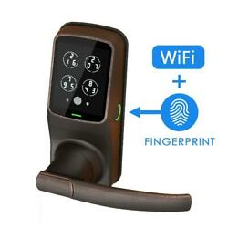 Secure Pro Venetian Bronze Smart Lock Latch With 3d Fingerprint And Wi-fi With