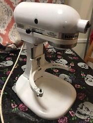 Kitchenaid Heavy Duty Bowl-lift Stand Mixer White K5ss - Tested - Mixer Only