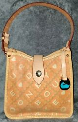 Authentic💥evc💥super Rare Dooney And Bourke Crossword Logo Sandwich/lunch Tote
