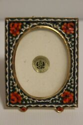Small Antique Italian Micro Mosaic Picture Frame By House Of Global Art