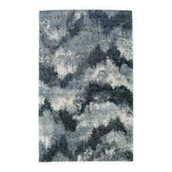 Addison Rugs Borealis 9and0396 X 13and0392 Abstract Chevron Shag Fabric Area Rug In Blue