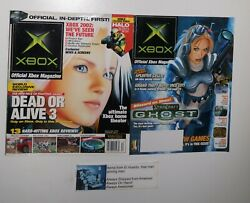 Official Xbox Gaming Magazine Premiere Issue 1 Dead Or Alive 3 Dec 2001 + Extra