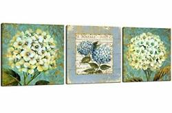 Flower Wall Art Bedroom Wall Decoration White Flower Bathroom Painting Canvas...