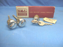 Nos 1946-48 Ford Lock Cylinder Set Doors With Covers And Ignition Ct7