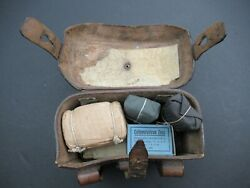 Waa159 Original Wwii German Army Wehrmacht Medic First Aid Pouch With Contents