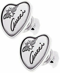 Flowline Sect Earrings Insects And Classic Logo Engraved Heart Plate