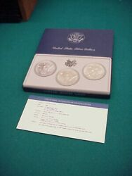 Us Mint Silver Dollars 1983 Olympic 900 Fine .86 Troy Ounce