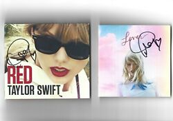Taylor Swift Signed Cd Bundle Red Play.com And Lover Booklet. Autograph Rare
