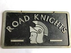 Road Knights - Vintage Car Club Plaque Made Of Aluminum In Great Condition