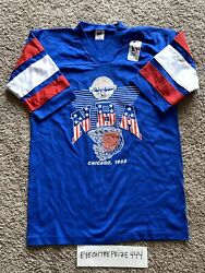 Vintage 1988 Nba All-star Game Official T-shirt Medium Chicago New W/tag 7888
