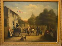 Oil Painting On Board By Listed Dutch Artist A. Bernart - Signed And Dated 1858