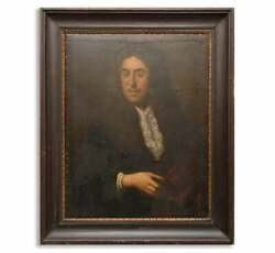 18 Th Century Antique Old Master Portrait Noble Painting Oil On Cardboard