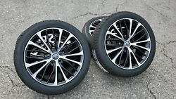 18 Toyota Camry Wheels Machined Black Rims Toyo As Tires 2019 2020 2021 Avalon
