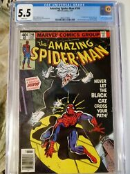 Amazing Spider Man 194 CGC 5.5 First Black Cat. White Pages