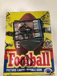 1985 Topps Football Wax Box Bbce. Warren Moon Rc Unopened Box. Authenticated .