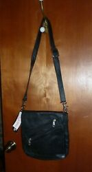 UNIK * BLACK LEATHER MOTORCYCLE PURSE * CHROME PLATED * NEW W TAGS $29.99