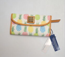 Dooney And Bourke Tiki Wallet With Pineapple Print White Color NWT $110.00