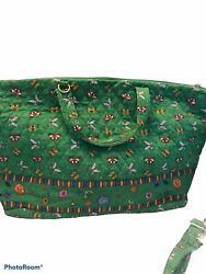 Americana By Sharif Travel Bag Quilted Butterflies W/ Change Bagand Arm Strap