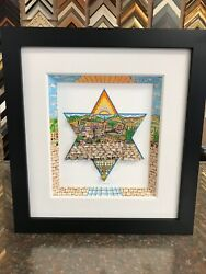 """Charles Fazzino 3d Artwork """" A Star Of Light """" Signed And Numbered Deluxe Edition"""