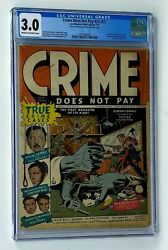Crime Does Not Pay 22 1 Lev Gleason Publications 1942 Comic Book Cgc 3.0
