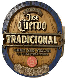 Jose Cuervo Tequila Solid Wood Hanging Sign Bar Man Cave Approx. 25x28 Engraved