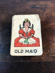 """Vintage Very Old """"old Maid Cards"""" By Russel Games"""