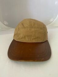 Nwt Sample Sale Item Vintage Polo 5 Panel Waxed Cotton Leather Hat