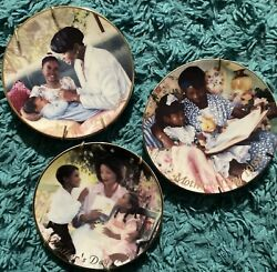 Vintage Antique Collectible Mother's Day Plates. 24kt Gold Trimming.