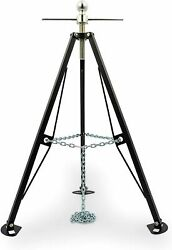 Alloy Steel Gooseneck Stabilizer Rv Camper 5th Wheel Tripod Towing Jack Stand