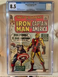 Tales Of Suspense 59 - Cgc 8.5 - 1st Capt America Silver Age Solo Story -marvel