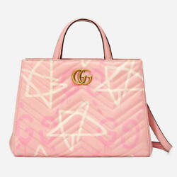 Gg Marmont Ghost 2 Way Bag Pink Hand Shoulder Purse Japan Limited New Rare